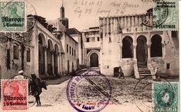 MAROC OBLITERATION CASABLANCA SUR TIMBRES  ALLEMANDS ANGLAIS ET ESPAGNOLE TROUPES DEBARQUEES A CASABLANCA - Marokko (1956-...)
