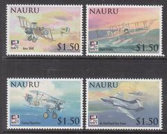 2009 Nauru Naval Aviation Military Planes  Complete Set Of 4 MNH - Nauru