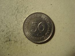 MONNAIE ALLEMAGNE 50 PFENNIG 1989 J - [ 7] 1949-… : RFA - Rep. Fed. Alemana