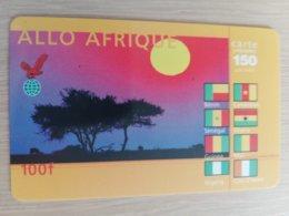 FRANCE/FRANKRIJK  ALLO AFRIQUE 100 FR  PREPAID  USED    ** 1512** - Nachladekarten (Handy/SIM)