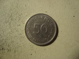 MONNAIE ALLEMAGNE 50 PFENNIG 1973 D - [ 7] 1949-… : RFA - Rep. Fed. Alemana