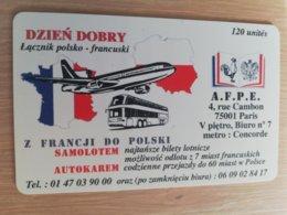 FRANCE/FRANKRIJK  DZIEN DORY PLANE  AUTOBUS  120 UNITES  PREPAID  MINT     ** 1514** - Nachladekarten (Handy/SIM)