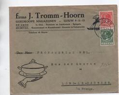 1935 - ENVELOPPE COMMERCIALE De HOORN Pour LONS LE SAUNIER (JURA) - Poststempel
