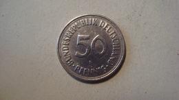 MONNAIE ALLEMAGNE 50 PFENNIG 1971 F - [ 7] 1949-… : RFA - Rep. Fed. Alemana
