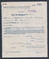Guia De Bagagem Do Paquete Nyassa Da Companhia Nacional De Navegação Para Luanda 1945. Baggage Guide From Paquete Nyassa - Portugal