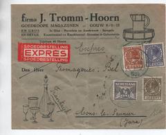 1935 - ENVELOPPE EXPRES De HOORN Pour LONS LE SAUNIER (JURA) - Poststempel