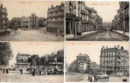 BEZIERS - 4 CPA - La Poste - Avenue De La Gare - Pl. De La Republique (Tramways) Pl. De La Victoire (Kiosque   (143 ASO) - Beziers