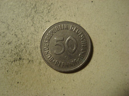 MONNAIE ALLEMAGNE 50 PFENNIG 1969 F - [ 7] 1949-… : RFA - Rep. Fed. Alemana