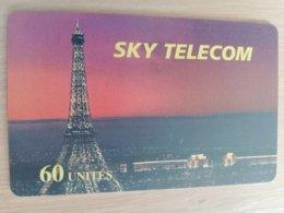 FRANCE/FRANKRIJK  SKY TELECOM 60 UNITES  PREPAID  MINT     ** 1517** - Nachladekarten (Handy/SIM)