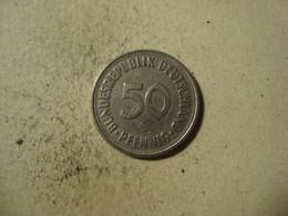 MONNAIE ALLEMAGNE 50 PFENNIG 1966 G - [ 7] 1949-… : RFA - Rep. Fed. Alemana