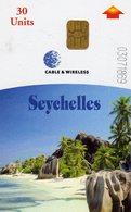 *IS. SEYCHELLES* - Scheda A Chip Usata - Seychellen