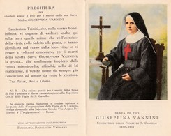 S.D.D. GIUSEPPINA VANNINI - E - A - Mm. 70 X 110 - Religion & Esotericism