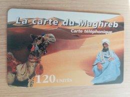 FRANCE/FRANKRIJK  LA CARTE DU MAGHREB 120 UNITES  PREPAID  MINT     ** 1518** - Nachladekarten (Handy/SIM)