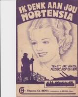 Ik Denk Aan Jou Hortensia. - Noten & Partituren