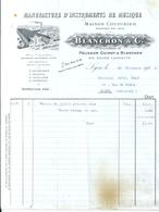 Facture Blanchon Et  Cie Manufacture Instruments De Musique Cours Lafayette Lyon 26 Décembre 1923 - 1900 – 1949
