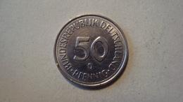 MONNAIE ALLEMAGNE 50 PFENNIG 1990 D - [ 7] 1949-… : RFA - Rep. Fed. Alemana