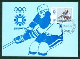 Yugoslavia 1984 FDC MC Winter Olympics Sarajevo Sport Hockey Ice Card Cover Letter Michel 2030 /  2025 - 1945-1992 République Fédérative Populaire De Yougoslavie