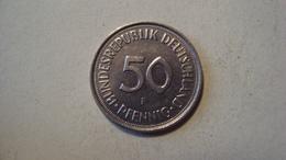 MONNAIE ALLEMAGNE 50 PFENNIG 1990 F - [ 7] 1949-… : RFA - Rep. Fed. Alemana