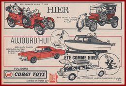 Corgi Toys. Voitures Miniatures D'hier Et Aujourd'hui. Daimler, Ford T, Buick Riviera, Citroen ID19 Jeux Olympiques 1965 - Pubblicitari