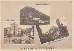 CAVA DEI TIRRENI-SALERNO-3 VEDUTE -CARTOLINA NON VIAGGIATA -ANNO 1940-1950 - Salerno