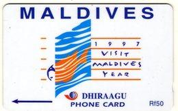 *IS. MALDIVE - 164MLDD* - Scheda Usata - Maldiven