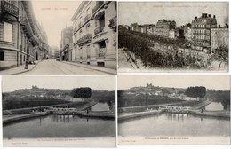 BEZIERS - 4 CPA - Les Neufs Ecluses (2)  - Rue Nationale - Les Allées Paul Riquet    (147 ASO) - Beziers