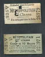 Ensemble Ticket De Métro Et Son Carnet (vide) 1910 Paris (pré-poinçonné) 2ème Cl - Métropolitain - RATP - Europe