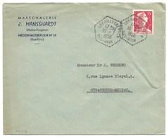 H542 - OBERHAUSBERGEN - 1956 - Bas Rhin - Entête Forgeron MANSSHARDT - - Marcophilie (Lettres)