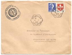 H546 - OFFWILLER - 1959 - Bas Rhin - Entête Maison Des Jeunes - - Marcophilie (Lettres)