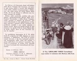 VEN. GIROLAMO TERZO Carmelitano - E - A - Mm. 78 X 123 - Religion & Esotericism