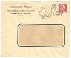 H562 - SURBOURG - 1959 - Bas Rhin - Entête BOIS THOMANN - - Marcophilie (Lettres)