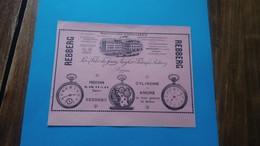 Publicité Horlogerie Suisse Rebberg Bienne 1912 - Advertising
