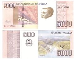 Angola - 5000 Kwanzas 2012 ( 2020 ) UNC P. 158 New, New Sign. Lemberg-Zp - Angola