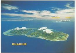 """Vue Aérienne De L'île De Huahine Avec En Toile De Fond L'île De Raiatea - Timbre De 1998 """"retour Du Marché 70F"""" - Polynésie Française"""