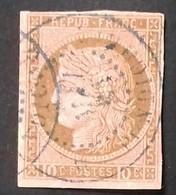 """N° 18 COTE 100 € Oblitéré C. à D. BLEU """" INDE * PONDICHERY -/5/81"""" - Cérès"""