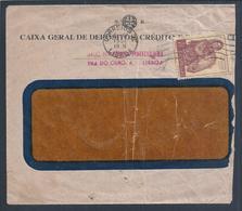 Carta Com Dupla Taxa SR E Stamp 1$00 Congresso De Pesca. Double SR Fee Letter And 1$00 Stamp Fishing Congress. Fishermen - 1910-... Republic