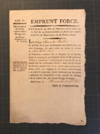 EMPRUNT FORCÉ - DUNKERQUE An 4 - Dept. Du NORD - Contributions Pour La Commune De Dunkerque (IMPÔTS) - Documents Historiques
