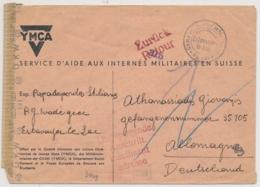 Feldpostbrief Aus Interniertenlager ESTAVAYER-LE-LAC - Mit Militärzensur Und RETOUR Stempel - Documenti