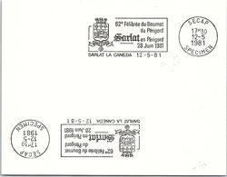 SPECIMEN SECAP -  SARLAT EN PERIGORD - 62e FELIBREE DU BOURNAT - SARLAT LA CANEDA 12.5.81     /44- 2 - Maschinenstempel (Werbestempel)