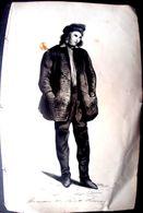 SAINT PIERRE ET MIQUELON DESSIN ANCIEN ORIGINAL A LA PLUME DES ANNEES 1930 D'UN HOMME DE SAINT PIERRE 18 X 11 CM - Saint-Pierre-et-Miquelon