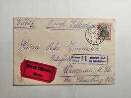 Deutsches Reich  Briefumschlag 1917 Gepruft Und Zu Befordern - Allemagne