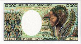 GABON 10 000 FRANCS P-7a UNC - Gabon