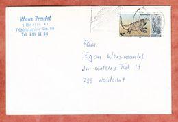 Brief, Nashornleguan, MS Gruene Woche Berlin, Nach Waldshut 1977 (93330) - Berlin (West)