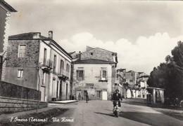 SAN OMERO-VIA ROMA-SCOOTER-CARTOLINA VERA FOTOGRAFIA VIAGGIATA IL 19-10-1959 - Teramo