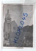 """77 77 Nangis (Seine Et Marne) Vue Arrière De L'église - Canon 1914 18 Chariots Militaires Dans La Cour  """" Carte """" Photo - Nangis"""
