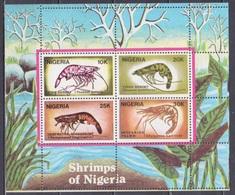 1988Nigeria520-523/B8CAError Perforation / Sea Fauna - Vie Marine