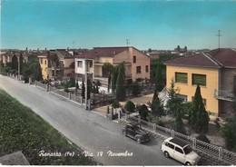 RENAZZO-FERRARA-VIA IV NOVEMBRE-CARTOLINA VERA FOTOGRAFIA VIAGGIATA IL 25-7-1970 - Ferrara