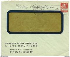 """231 - 6 - Entier Postal Privé """"Strassenverkehrsliga Zürich 1927"""" - Entiers Postaux"""