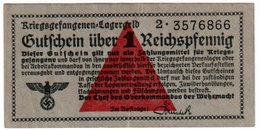 GERMANY, WWII, PRISONERS CAMP CURRENCY , 1 REICHSPFENNIG 1039-1944 , XF - Verrechnungsscheine - Dt. Wehrmacht