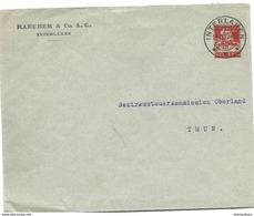 """231 - 25 - Entier Postal Privé  """"Raeuber & Co Interlaken"""" Superbe Cachet à Date 1927 - Entiers Postaux"""